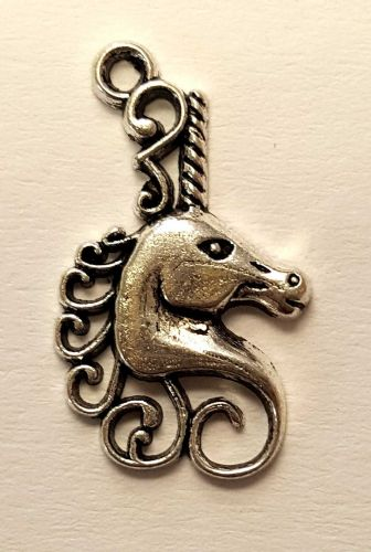 Unicorn Alloy Charms in Antique Silver (5)